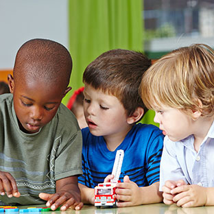 school-aged children playing